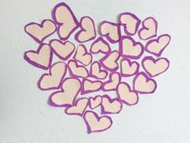 Little hearts Stock Photography