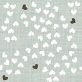 Little hearts in winter colors scrapbook backgroun Royalty Free Stock Photos