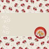 Little hedgehogs on torn scrapbook paper Royalty Free Stock Photography