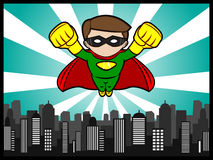 Little Hero Flying Royalty Free Stock Image