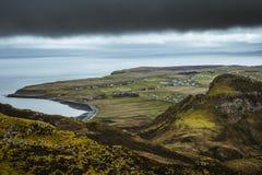 Quiraing - the most beautiful landscape in Scotland stock photo