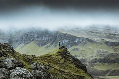 Quiraing - the most beautiful landscape in Scotland stock photography