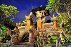 Little Hindu shrine in Ubud, Bali, Indonesia Royalty Free Stock Photos