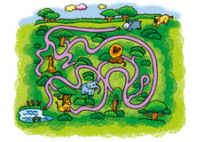 Grassland maze Royalty Free Stock Photography