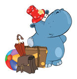 A little hippo. Cartoon Royalty Free Stock Photography