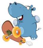 A little hippo. Cartoon Royalty Free Stock Image