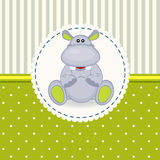 Little hippopotamus baby Stock Photo