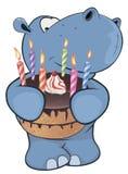Little hippopotamus. Cartoon Royalty Free Stock Photo