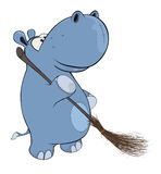 Little hippopotamus. Cartoon Royalty Free Stock Photos