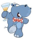 Little hippopotamus. Cartoon Stock Images