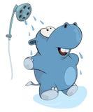 Little hippopotamus. Cartoon Stock Photos