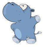 Little hippopotamus. Cartoon Stock Photography