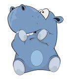 Little hippopotamus. Cartoon Royalty Free Stock Photography