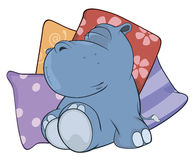 Little hippopotamus. Cartoon Royalty Free Stock Image