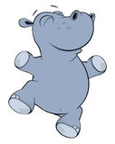 Little hippopotamus. Cartoon Stock Photo