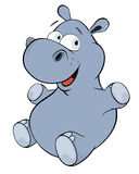 Little hippopotamus. Cartoon Royalty Free Stock Images