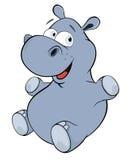 Little hippopotamus. Cartoon Royalty Free Stock Images