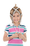 Little hispanic girl with peruvian hat Royalty Free Stock Photos