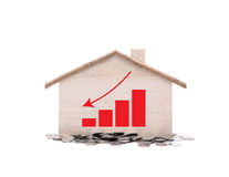 Little home with money Royalty Free Stock Image