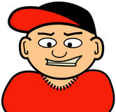 Little Homeboy. A drawing of a little, caucasian homeboy Royalty Free Stock Images