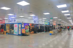 Little Hong Kong shopping arcade Guilin China. People visit Little Hong Kong shopping arcade in Guilin China. Little Hong Kong is an underground shopping mail in Stock Photos