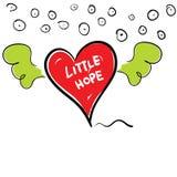 Little hope in heart cartoon vector Royalty Free Stock Photos