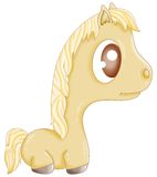 Little horse. Little blond horse with great eyes Royalty Free Stock Image