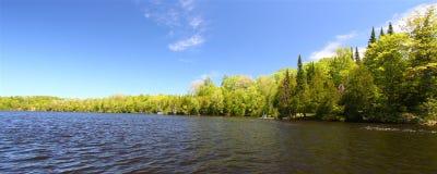 Little Horsehead Lake - Wisconsin. Panoramic view of Little Horsehead Lake in northern Wisconsin stock photo