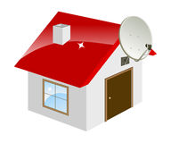 Little house. Isolated on a white. Vector illustration Royalty Free Stock Photo
