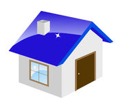 Little house. Isolated on a white. Vector illustration Royalty Free Stock Image