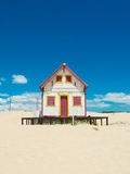 Wooden hut stock image