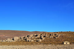 Little house in the altiplano. Stock Photo