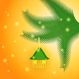 Little House as a Christmas Gift Royalty Free Stock Photography