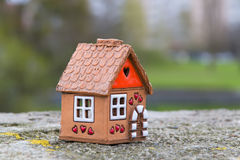 Little house. In the background houses Stock Images