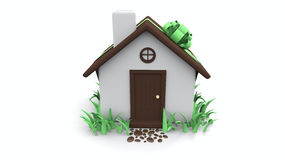 Little house with bow Stock Images