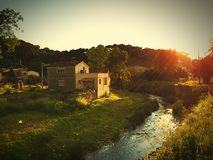 little house in the Brague Stock Image