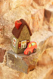 Little house and car Royalty Free Stock Image