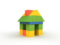 Little house with clipping path Stock Image