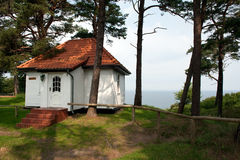 Little house at the coast. Little house at the Baltic sea coast Royalty Free Stock Images