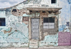 Little House in the Country. A crumbling house in Old Havana. Photo taken Jan. 2014 Royalty Free Stock Photos