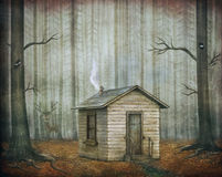 Little House  in  fairytale forest Stock Photo