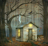 Little House  in a fairytale forest Stock Photography
