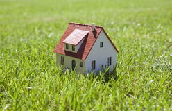 Little house on grass Royalty Free Stock Images