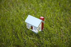 Little house on grass Royalty Free Stock Photo