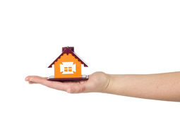 Little House on the hand Stock Images