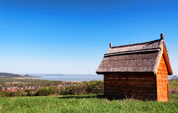 Little house at Lake Balaton Stock Image