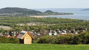 Little house at Lake Balaton Stock Photography