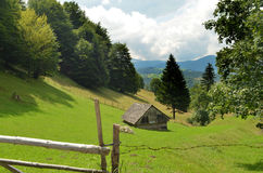 Little house in the mountains Royalty Free Stock Image