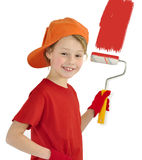 Little house painter Stock Photo