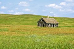 Little House on the Prairie. Early 1900s American home on the prairie range in South Dakota Royalty Free Stock Photography